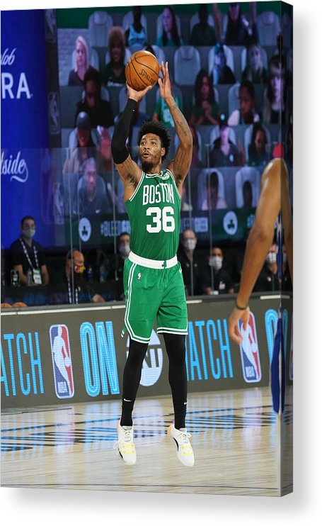Playoffs Acrylic Print featuring the photograph Marcus Smart by Jesse D. Garrabrant