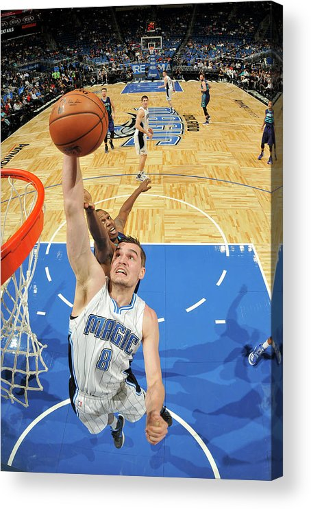 Nba Pro Basketball Acrylic Print featuring the photograph Mario Hezonja by Fernando Medina