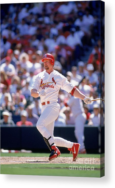 St. Louis Cardinals Acrylic Print featuring the photograph Mark Mcgwire by Rich Pilling