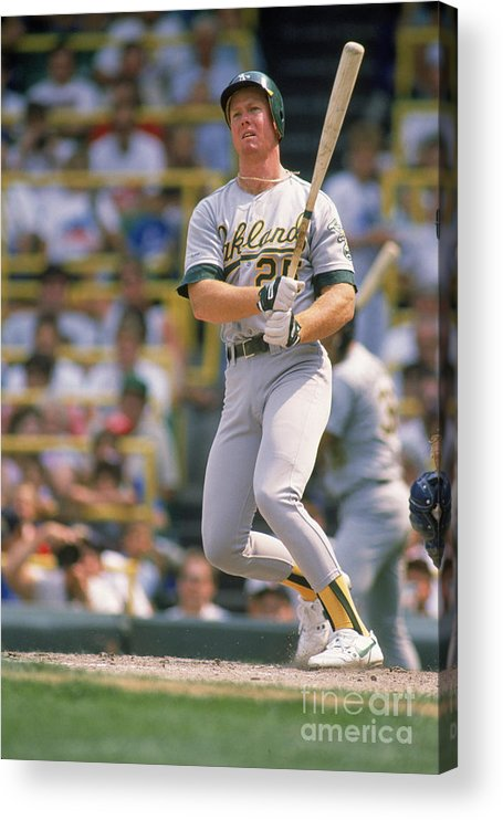 1980-1989 Acrylic Print featuring the photograph Mark Mcgwire by Ron Vesely