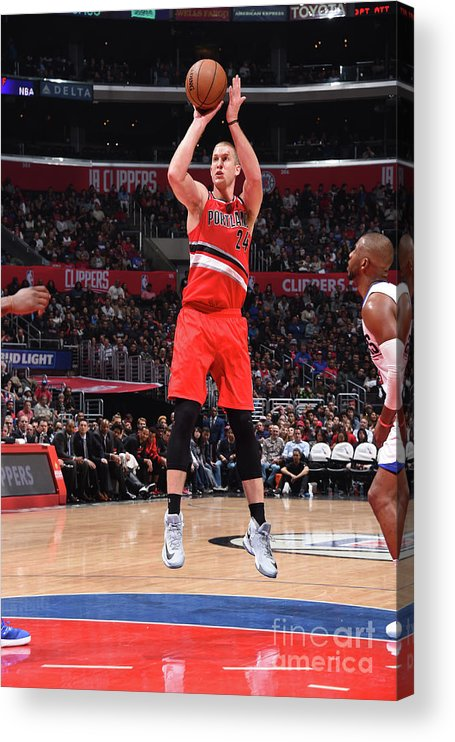 Nba Pro Basketball Acrylic Print featuring the photograph Mason Plumlee by Andrew D. Bernstein