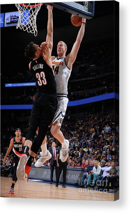 Playoffs Acrylic Print featuring the photograph Mason Plumlee by Bart Young