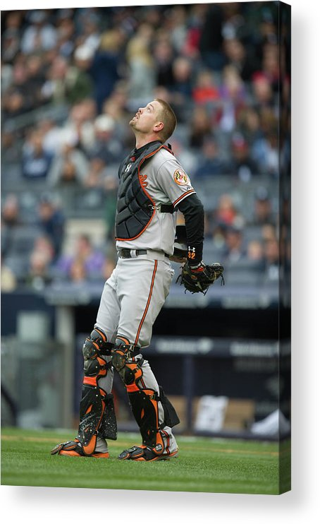 East Acrylic Print featuring the photograph Matt Wieters by Rob Tringali