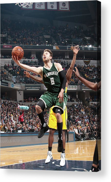 Nba Pro Basketball Acrylic Print featuring the photograph Matthew Dellavedova by Ron Hoskins