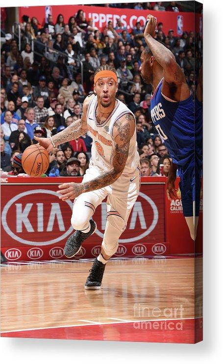 Michael Beasley Acrylic Print featuring the photograph Michael Beasley by Andrew D. Bernstein