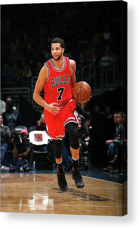 Nba Pro Basketball Acrylic Print featuring the photograph Michael Carter-williams by Ned Dishman