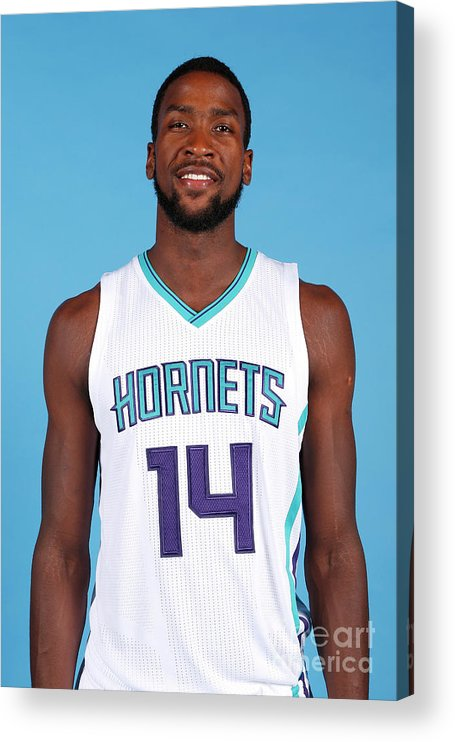 Media Day Acrylic Print featuring the photograph Michael Kidd-gilchrist by Brock Williams-smith