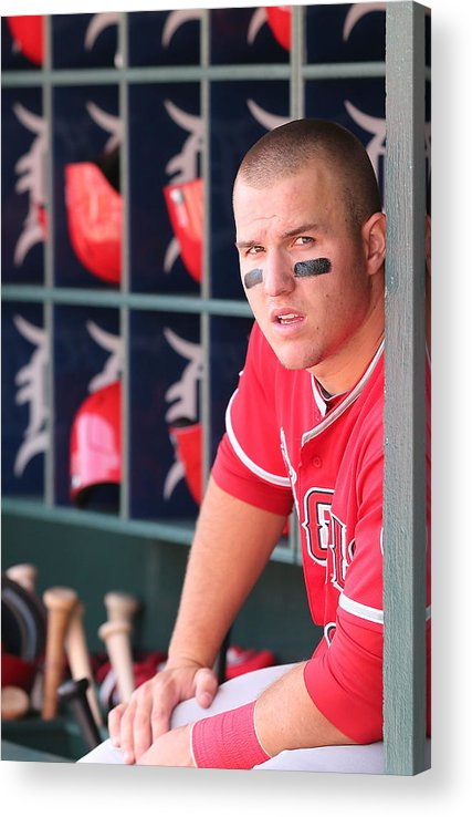 Ninth Inning Acrylic Print featuring the photograph Mike Trout by Leon Halip