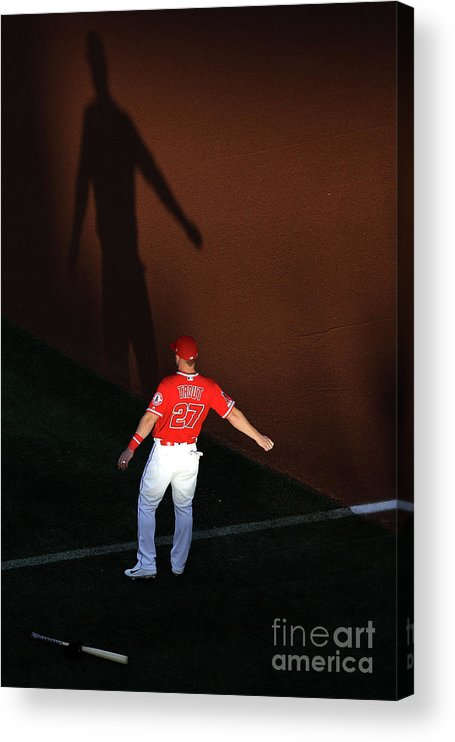 People Acrylic Print featuring the photograph Mike Trout by Sean M. Haffey