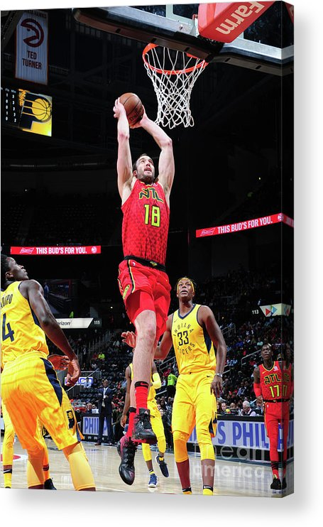 Atlanta Acrylic Print featuring the photograph Miles Plumlee by Scott Cunningham