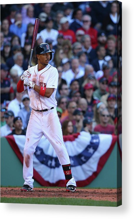 People Acrylic Print featuring the photograph Mookie Betts by Maddie Meyer