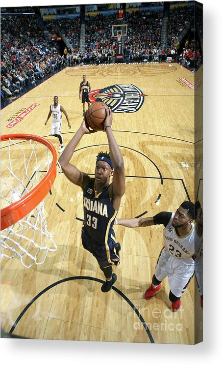 Smoothie King Center Acrylic Print featuring the photograph Myles Turner by Layne Murdoch