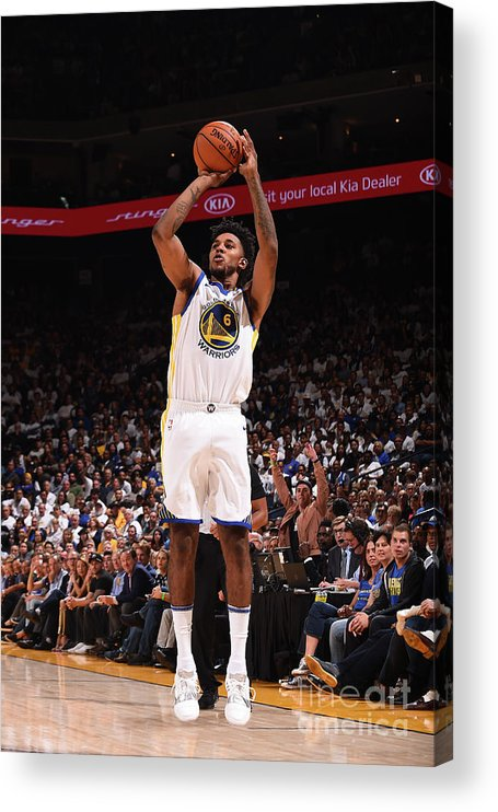 Nba Pro Basketball Acrylic Print featuring the photograph Nick Young by Noah Graham