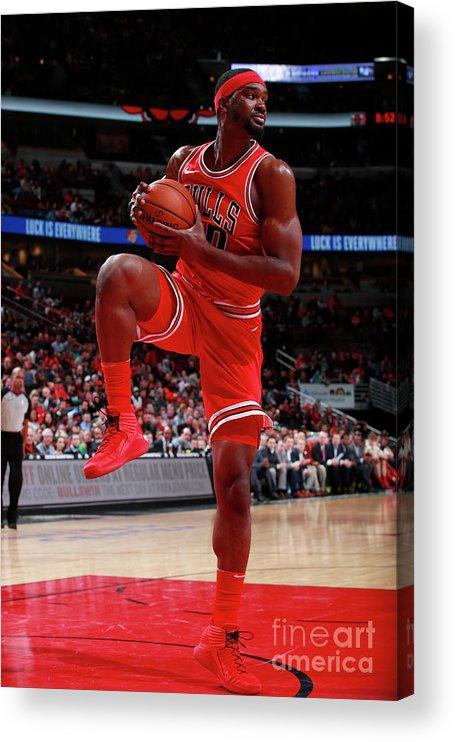 Nba Pro Basketball Acrylic Print featuring the photograph Noah Vonleh by Jeff Haynes
