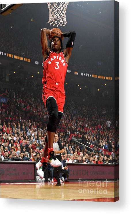 Nba Pro Basketball Acrylic Print featuring the photograph Og Anunoby by Ron Turenne