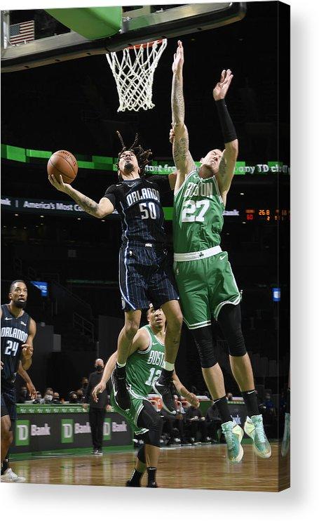 Nba Pro Basketball Acrylic Print featuring the photograph Orlando Magic v Boston Celtics by Brian Babineau