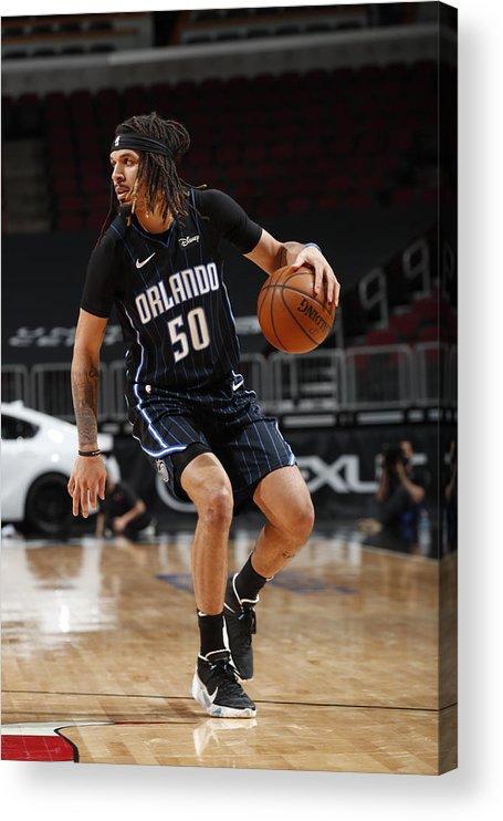Nba Pro Basketball Acrylic Print featuring the photograph Orlando Magic v Chicago Bulls by Jeff Haynes