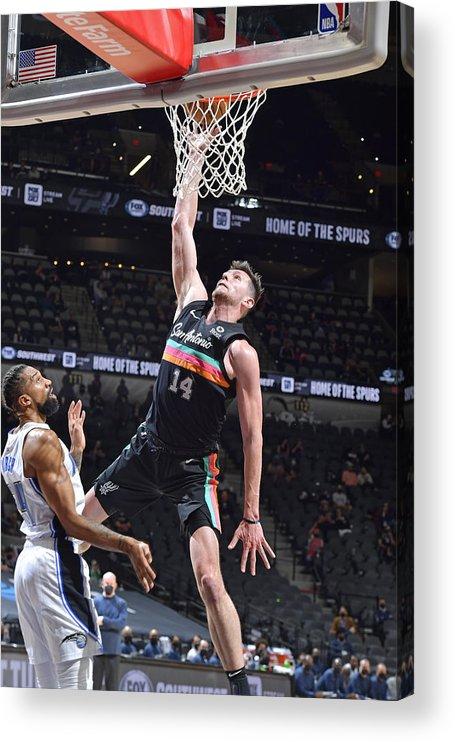 Nba Pro Basketball Acrylic Print featuring the photograph Orlando Magic vs. San Antonio Spurs by Logan Riely