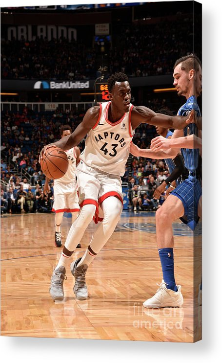 Nba Pro Basketball Acrylic Print featuring the photograph Pascal Siakam by Gary Bassing