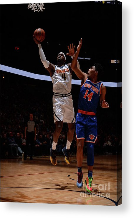 Nba Pro Basketball Acrylic Print featuring the photograph Paul Millsap by Bart Young