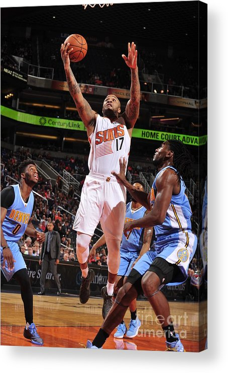 Nba Pro Basketball Acrylic Print featuring the photograph P.j. Tucker by Barry Gossage