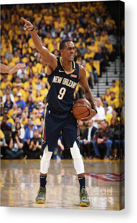 Playoffs Acrylic Print featuring the photograph Rajon Rondo by Garrett Ellwood