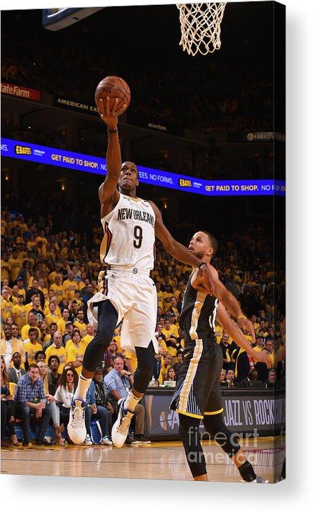 Playoffs Acrylic Print featuring the photograph Rajon Rondo by Noah Graham