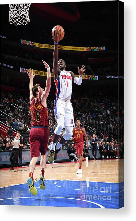 Nba Pro Basketball Acrylic Print featuring the photograph Reggie Jackson by Chris Schwegler