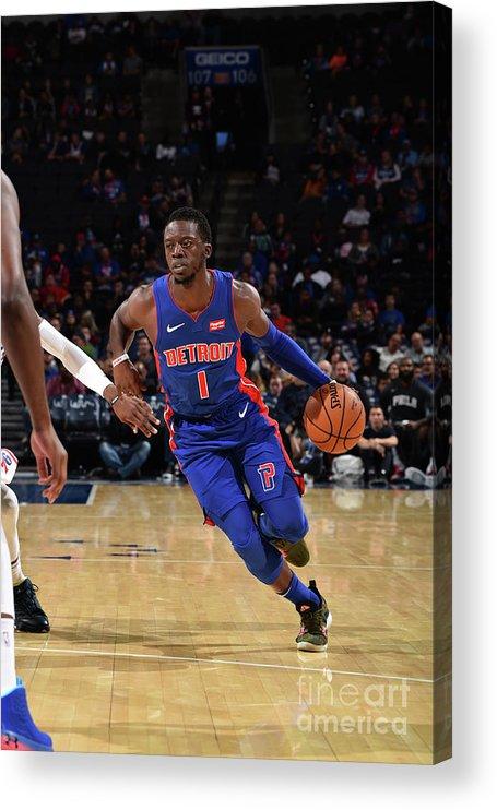 Nba Pro Basketball Acrylic Print featuring the photograph Reggie Jackson by David Dow