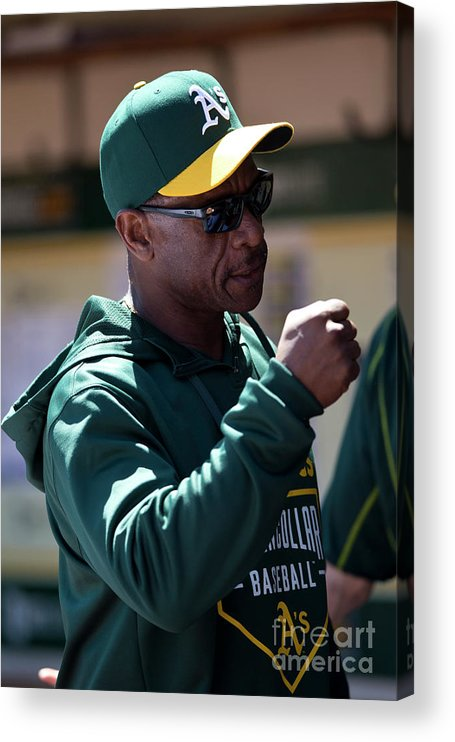 People Acrylic Print featuring the photograph Rickey Henderson by Jason O. Watson