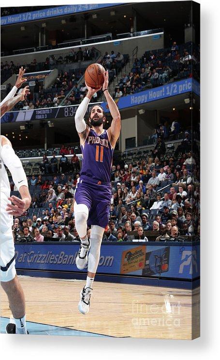 Nba Pro Basketball Acrylic Print featuring the photograph Ricky Rubio by Joe Murphy