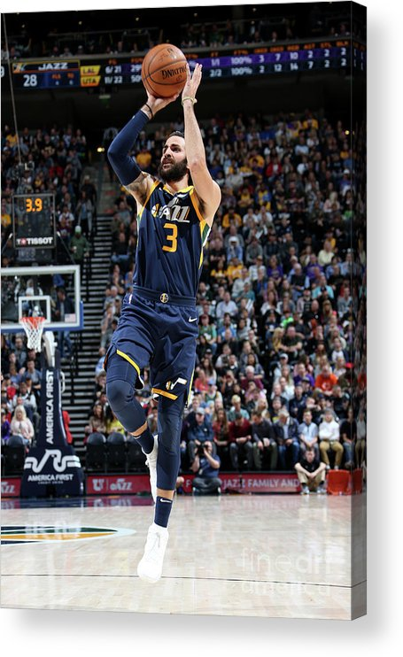 Nba Pro Basketball Acrylic Print featuring the photograph Ricky Rubio by Melissa Majchrzak
