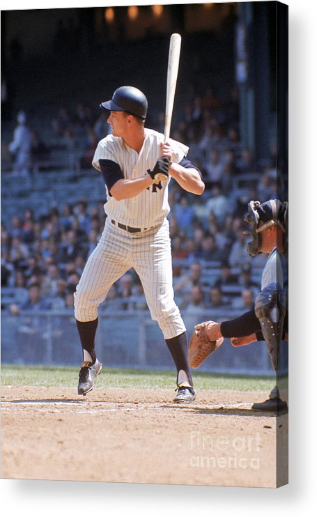 American League Baseball Acrylic Print featuring the photograph Roger Maris by Louis Requena
