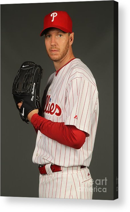 Media Day Acrylic Print featuring the photograph Roy Halladay by Nick Laham