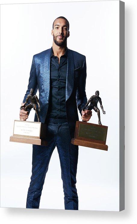 Nba Pro Basketball Acrylic Print featuring the photograph Rudy Gobert by Atiba Jefferson