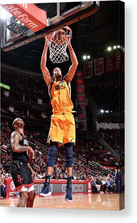 Nba Pro Basketball Acrylic Print featuring the photograph Rudy Gobert by Bill Baptist