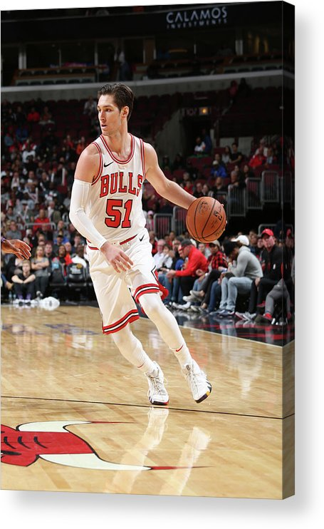Nba Pro Basketball Acrylic Print featuring the photograph Ryan Arcidiacono by Gary Dineen