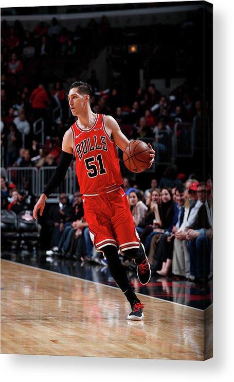 Nba Pro Basketball Acrylic Print featuring the photograph Ryan Arcidiacono by Jeff Haynes