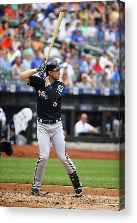 People Acrylic Print featuring the photograph Ryan Braun by Al Bello