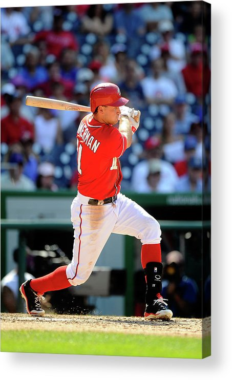 American League Baseball Acrylic Print featuring the photograph Ryan Zimmerman by Greg Fiume