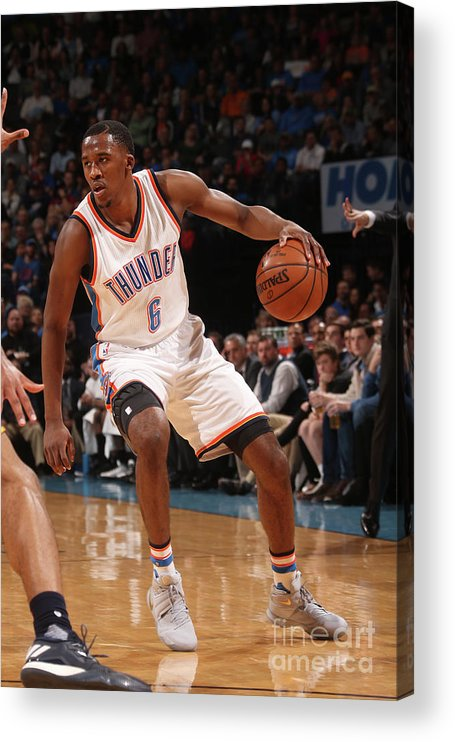 Nba Pro Basketball Acrylic Print featuring the photograph Semaj Christon by Layne Murdoch