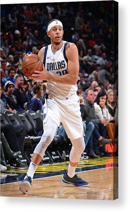 Nba Pro Basketball Acrylic Print featuring the photograph Seth Curry by Bart Young