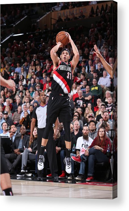 Nba Pro Basketball Acrylic Print featuring the photograph Seth Curry by Sam Forencich