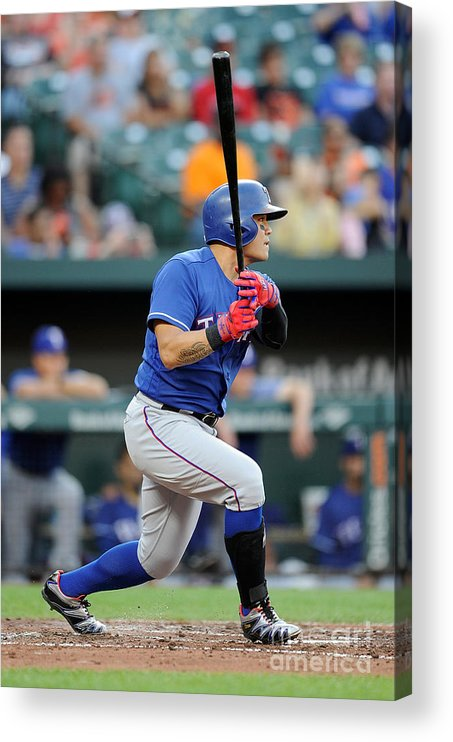 People Acrylic Print featuring the photograph Shin-soo Choo by Greg Fiume