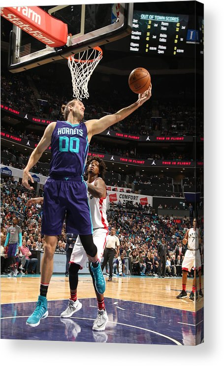 Nba Pro Basketball Acrylic Print featuring the photograph Spencer Hawes by Kent Smith