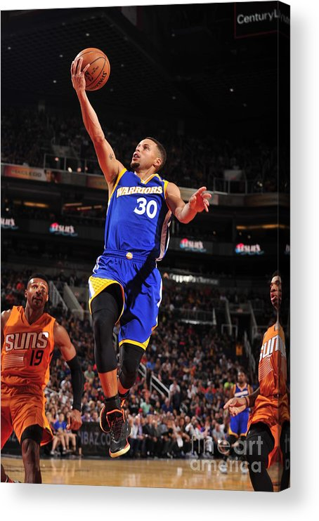 Nba Pro Basketball Acrylic Print featuring the photograph Stephen Curry by Barry Gossage