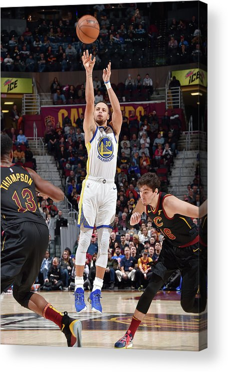 Nba Pro Basketball Acrylic Print featuring the photograph Stephen Curry by David Liam Kyle