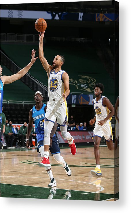 Nba Pro Basketball Acrylic Print featuring the photograph Stephen Curry by Gary Dineen