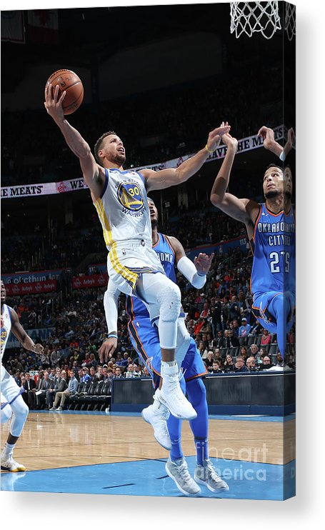 Nba Pro Basketball Acrylic Print featuring the photograph Stephen Curry by Layne Murdoch