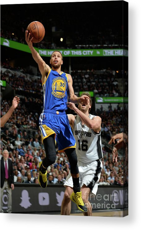 Nba Pro Basketball Acrylic Print featuring the photograph Stephen Curry by Mark Sobhani